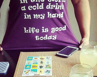 COUNTRY tank tops, Life is good today, Zac Brown Band