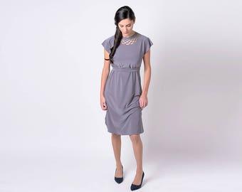 Gray Office Dress, Every Day Dress, Casual Dress Gray, Gray Party Dress, Gray Oversized Dress, Women Tunic, Womens fashion, Womens Clothing