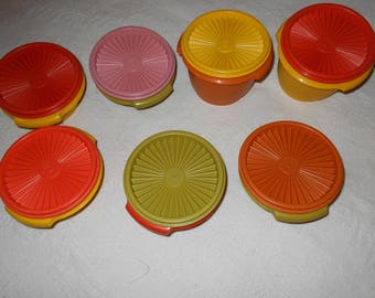 Vintage Tupperware Bowls with Lids 16 pieces