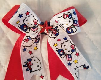 Hello Kitty 4th of July bow
