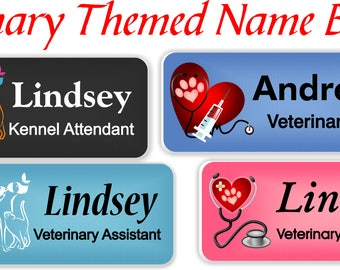 Magnetic Name Badge, Magnetic Name Tag, Veterinarian Name Tag, Magnetic Name Tag, ID Tag, Veterinary Name badge, Name Tag Magnetic - VET2
