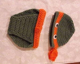 Crochet Ninja Turtles Outfit.