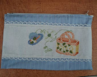 cross stitch pouch: summer is here!