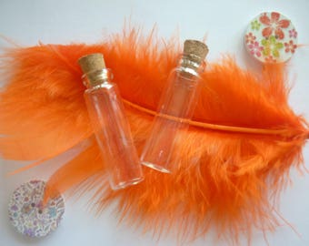 Vials with corks glass sold in packs of 2.
