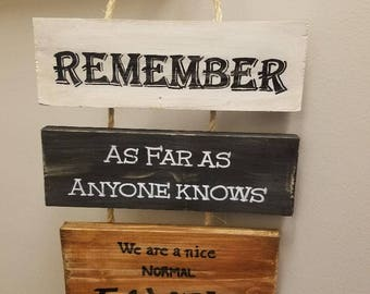 Nice Normal Family Wood Sign