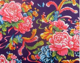 Chinese fabric cotton vintage purple 10 m