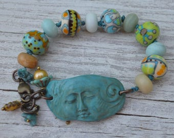 Moon Goddess bracelet - DesertBloom - DayLilyStudio