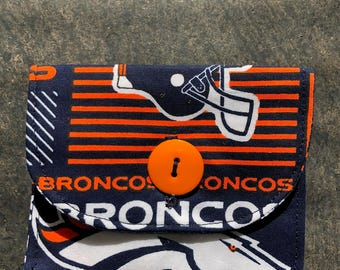 Denver Broncos - Coin Purse / Credit Card / Cash / Gift Card Wallet Pouch