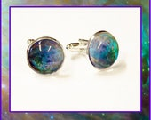 Orion Nebula Cufflinks with Photo Gift Card.