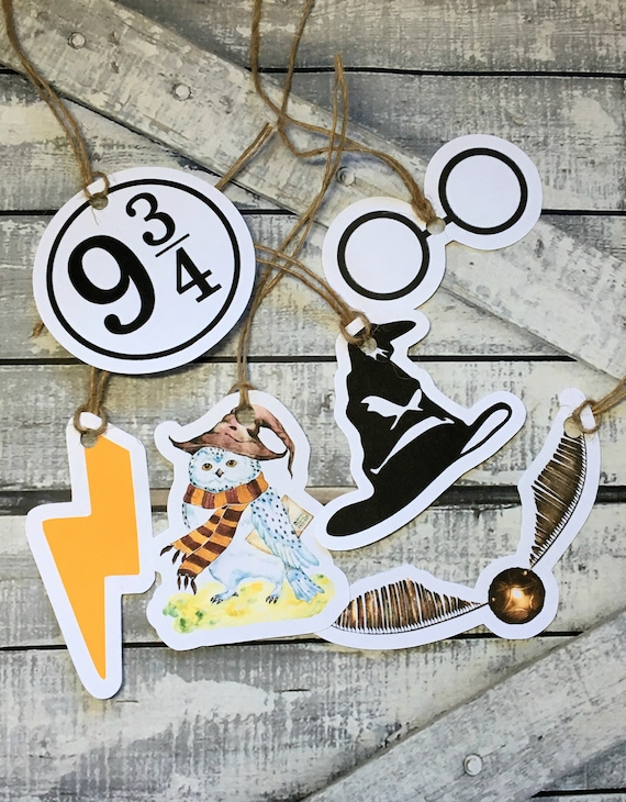 Gift Tags - Harry Potter,Harry Potter Favor Tags,Harry Potter Thank You Tags,Harry Potter Party, Harry Potter Birthday,Wizard Birthday