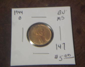 BU 1944-D LINCOLN CENTS