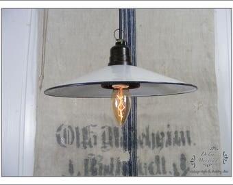 Enamel ceiling lamp 1930 - French Shabby