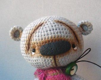 Gray Crochet Teddy Bear, Cute little bear