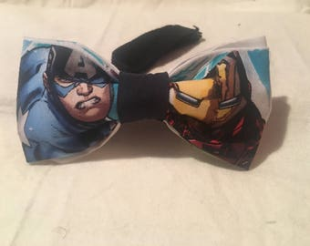 Captain America and Iron Man bow tie, Avengers bow tie , Marvel, Superhero bow tie, Marvel comics bow tie, adult bow tie