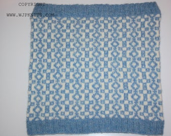 AVOCH Knitting Pattern for Ladies Fair Isle Cowl Neck Warmer PDF Instant Download