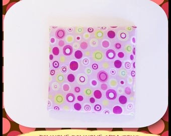 Original small heating pad dry pillow! SWIRL! Cotton multicolor 14 cm x 14cm belicious delicious creation
