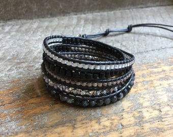 Mac Beaded Wrap Bracelet