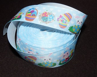 Ribbon Easter blue grosgrain Ribbon.