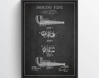 1918 Smoking Pipe Poster, Smoking Pipe Poster, Smoking Pipe Print,  Smoking Pipe Wall Art Decor, Home Decor, Gift Idea