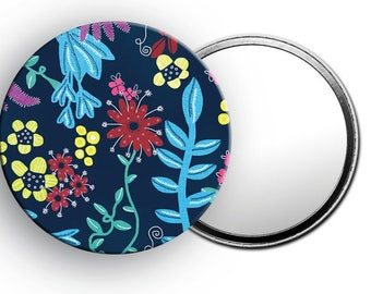 Floral Pocket Mirror, Cute little mirror, Gifts for her, Gifts for nature lovers, Handbag accessories, Cute little gifts, Floral Gifts
