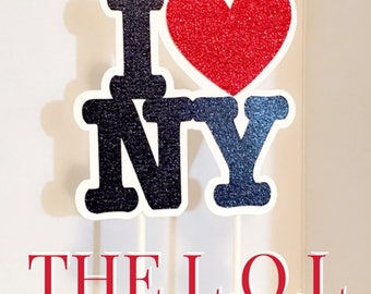 I Love NY Caketopper,  New York City, NYC Cake Topper, Party Supplies