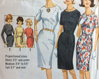 Simplicity 5324 misses proportioned dress size 10 bust 31 vintage 1960's sewing pattern