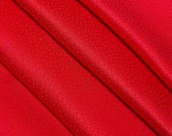 Scarlet red silk kimono lining / hakkake fabric - 6 pieces