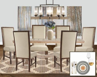 Customized Interior Design: design enhance package to decorate and accessorize an already furnished space
