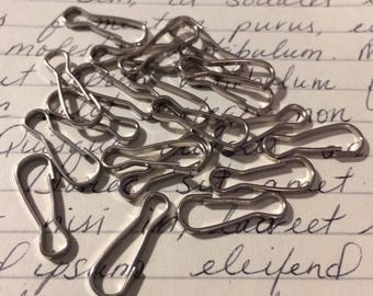 Silver Plated Lanyard Hooks 20 Pieces