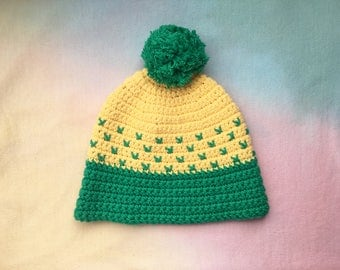 Crocheted vintage style beanie!