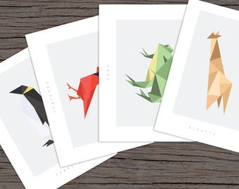 Animal Prints - Set of 10, A6 prints