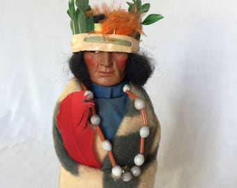 Large Native American Indian Chief Skookum Doll