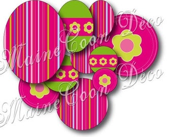 """108 images """"Flowers on A"""" printing and cutting for cabochons"""