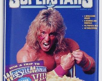 wwf Superstars Cereal Ultimate Warrior fridge magnet Wrestling wwe Hulk Hogan