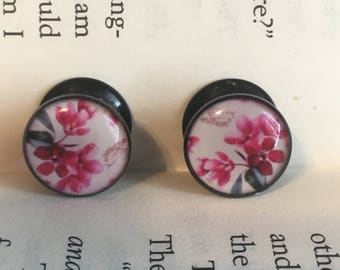 00g 10mm Acrylic Cherry Blossom Plugs