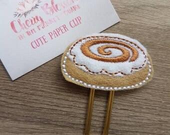 Kawaii Cute Cinnamon Bun Cinnabon Paper Clip