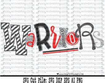 Warriors SVG, Cut file, Cheer svg, School spirit, socuteappliques, SvG Sayings, football svg, football sister svg, football mom svg