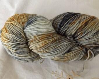 Fingering weight Hand dyed OOAK sock yarn merino/nylon blend 75/25 lilac base (colourA)