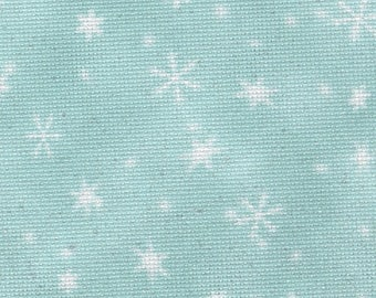 Fabric Flair 16 count Snowfall Aida with sparkles - piece approx 45 x 50cm. Great fabric for cross stitch
