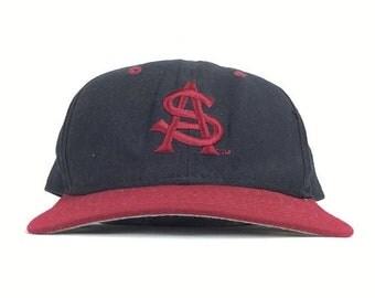On Sale Now Vintage 80s NCAA Arizona Sun Devils New Era DuPont Visor Low Profile Baseball Cap Hat Snapback Adult Size Made in USA