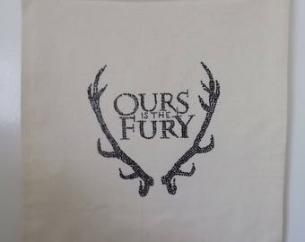 Handmade tote bag, Ours is the Fury, Baratheon, Game of Thrones