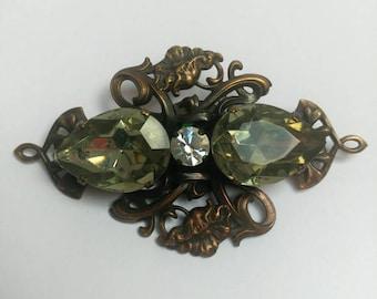 Stunning Art Nouveau Ermani Bulatti Brooch Signed