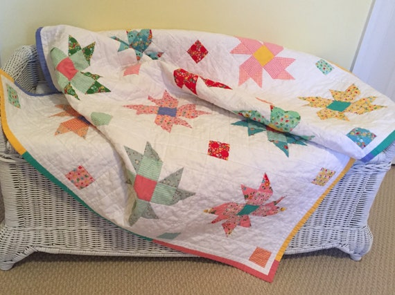 1930's Flower Baby/Toddler Quilt