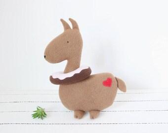 Llama Plush, Donut Floatie, Llama Stuffed Animal, Farm Animal Plush, Stuffed Llama, Llama Toy, Llama, Baby Shower, Baby Girl, Baby Boy