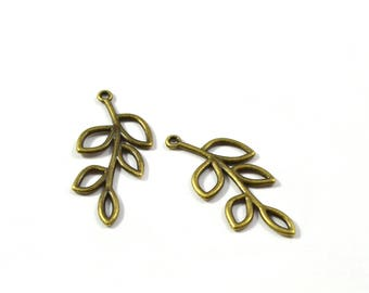 Set of 2 branch charm
