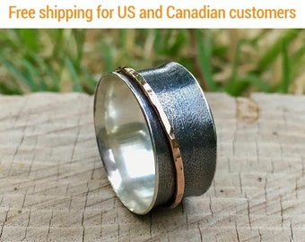 Fidget Ring, Spinner Ring, spinner fidget, spinner rings for women, Anxiety Ring, Worry Ring, Spinning Ring, Meditation Ring, Gift for her