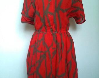Vintage Red Dress UK 10