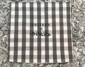 Hand painted Believe in Miracles Pillowcase