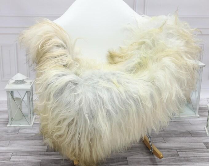Icelandic Sheepskin | Real Sheepskin Rug | Grey Ivory White Sheepskin Rug | Fur Rug | #islsept16