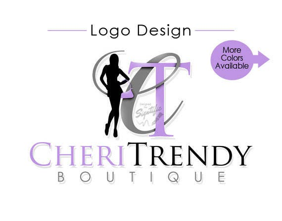 Custom Logo, Boutique Logo Design, Woman Silhouette Logo, Small Business Logo, Couture Logo, Fashion Logo, Re-branding Logo, Clothing Logo